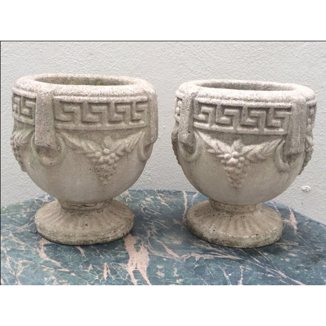 1940s Grecian Cement Planters - A Pair - Image 2 of 7
