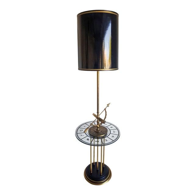 1960s Vintage Brass Armillary Astrological Floor Lamp - Image 1 of 6