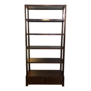Asian Modern Wood Etagere For Sale