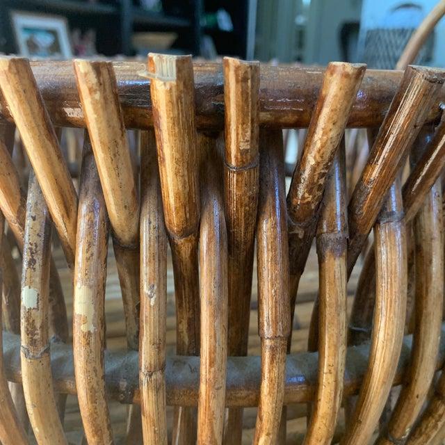 Vintage Primitive Handmade Wooden Basket For Sale In Los Angeles - Image 6 of 9