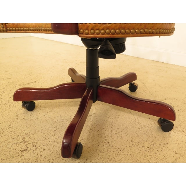 Century Tufted Leather Office / Desk Chair For Sale In Philadelphia - Image 6 of 12