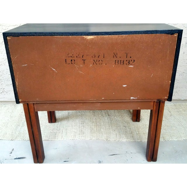 This is an American of Martinsville Vintage Mid Century Nightstand with an updated look. The case has been refinished...