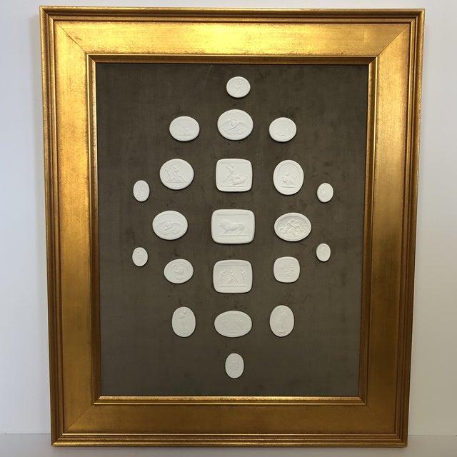 Collection of Framed Plaster Intaglios For Sale - Image 10 of 10