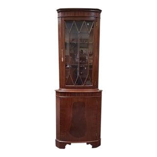 Vintage Mahogany Corner Cabinet C.1950s For Sale