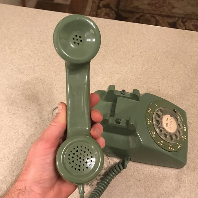 Green Vintage Western Electric Green 500 Rotary Phone For Sale - Image 8 of 11