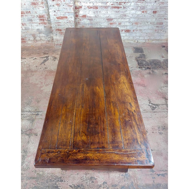 1960s Spanish Colonial Gorgeous Walnut Dining Table For Sale - Image 4 of 10