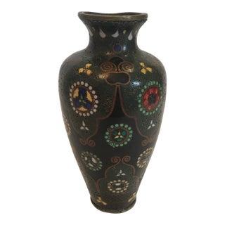 Meiji Period Cloisonné Enameled Vase For Sale