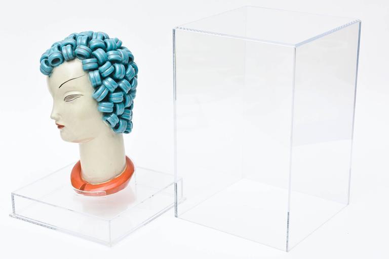 Incredible Goldscheider Inspired Czech Signed Ceramic