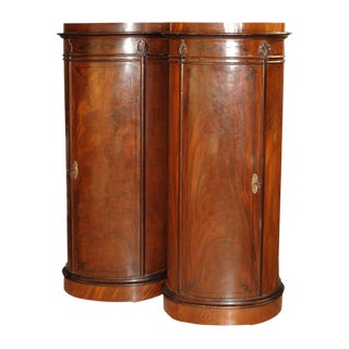 1900s Danish Biedermeier Mahogany Column Cabinets - a Pair For Sale