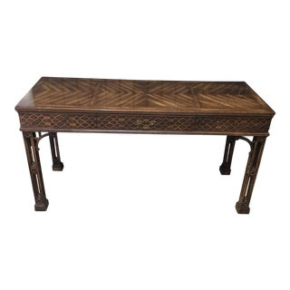 Irish Chippendale Table With Drawer