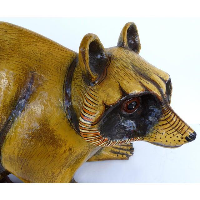 Sergio Bustamante Papier Mache Raccoon Sculpture by Sergio Bustamante For Sale - Image 4 of 9