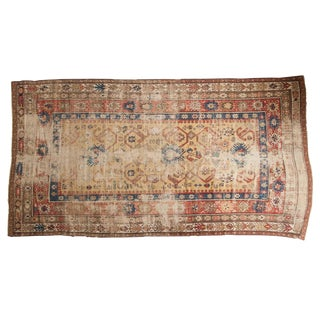 "Antique Caucasian Rug Runner - 5'2"" X 9'11"" For Sale"