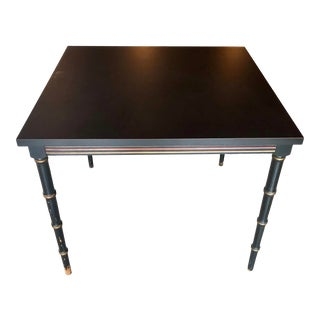 Barnard & Simonds Black Faux Bamboo Game Table For Sale