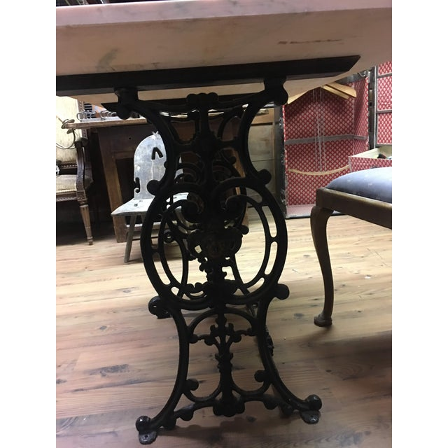 20th Century French Marble & Cast Iron Bistro Table For Sale - Image 12 of 12