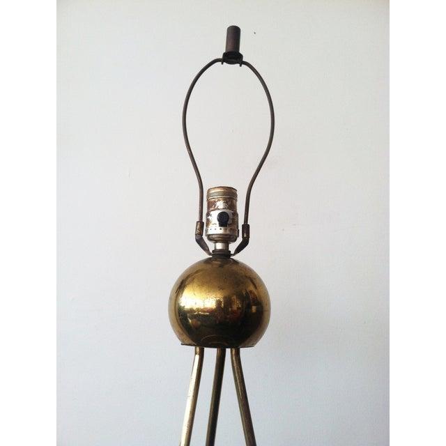 Walter von Nessen Tripod Brass Lamp For Sale - Image 7 of 8