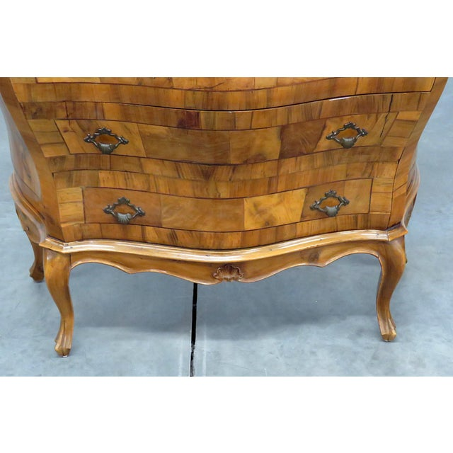 Italian Italian Louis XV Style Bombe Commode For Sale - Image 3 of 13