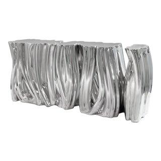 Covet Paris Monochrome Silver Sideboard For Sale