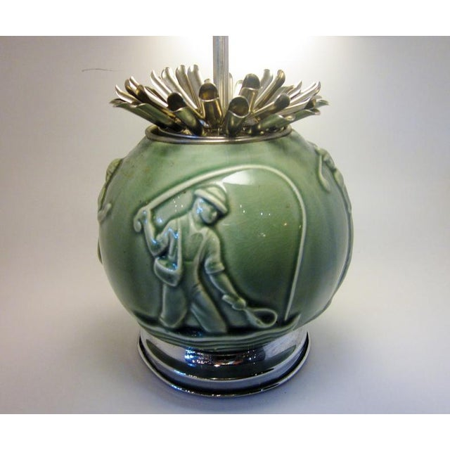 This is a vintage c. 1930s art deco Rookwood pottery (unsigned but attributed) cigarette dispnser. The foot and the lid...