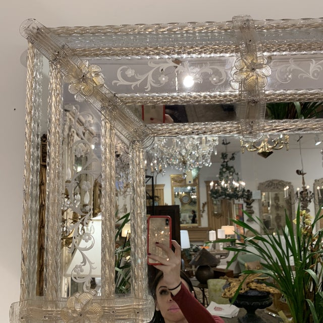 1970s Vintage Murano Mirror For Sale - Image 5 of 13