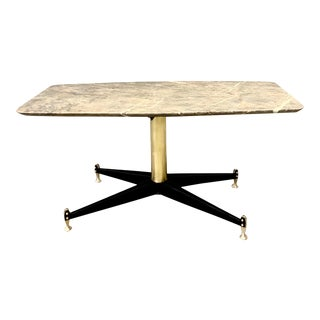 Italian Marble Coffee Table C.1950 For Sale