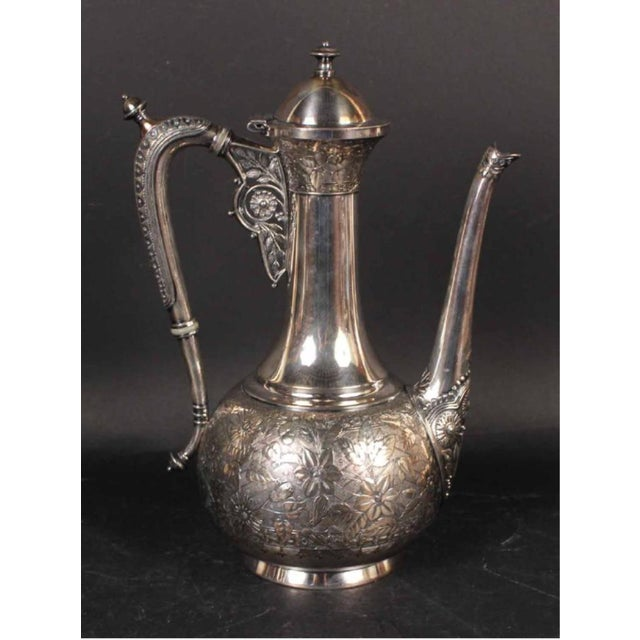 Metal Moorish Coffee Pots From the Aesthetic Movement - Set of 3 For Sale - Image 7 of 7