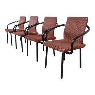 Ettore Sottsass for Knoll Mandarin Armchairs, Set of Four For Sale
