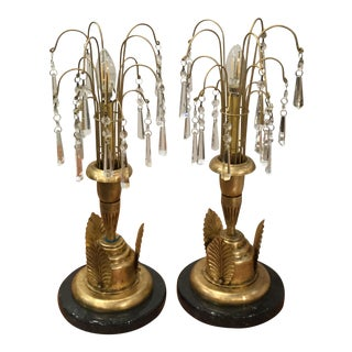 Deco Style Waterfall Table Lamps - a Pair For Sale