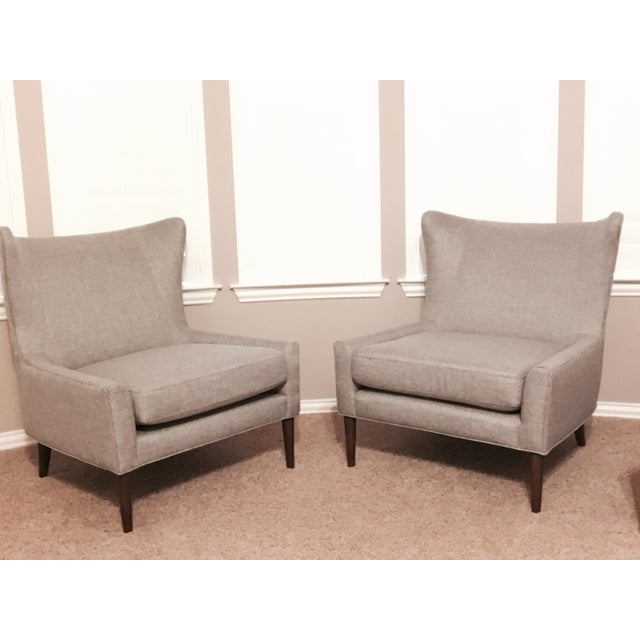 Brand New Modern Wingback Chairs - A Pair - Image 2 of 4