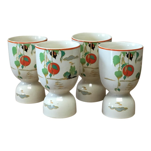 Vintage 1920s Double Egg Cups - Set of 4 For Sale