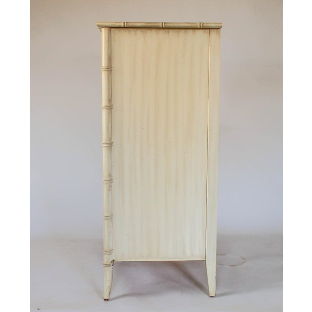 Thomasville Thomasville Faux Bamboo Chest of Drawers For Sale - Image 4 of 11