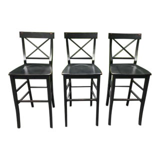 Pottery Barn Barstools - Set of 3 For Sale