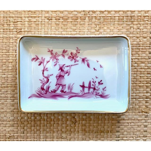 Ceramic 1960s Limoges Chinoiserie Trinket Dish For Sale - Image 7 of 7