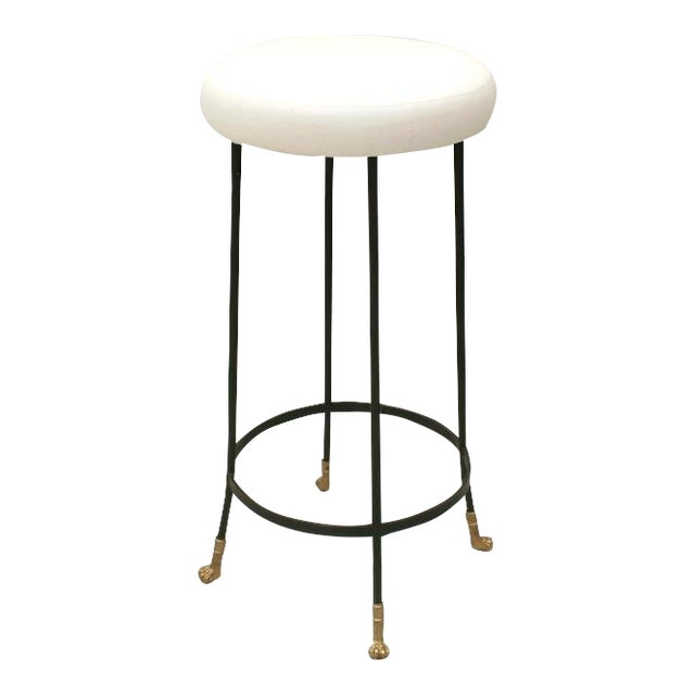 Cast Bronze and Black Iron Barstool (Bar Height) For Sale