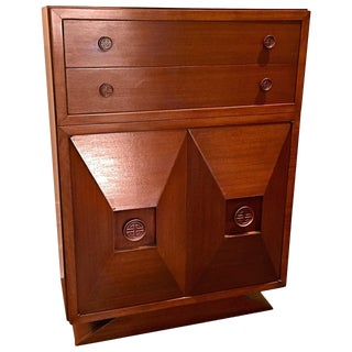 Tall Cuban Mahogany Chest of Drawers in the Style of James Mont For Sale