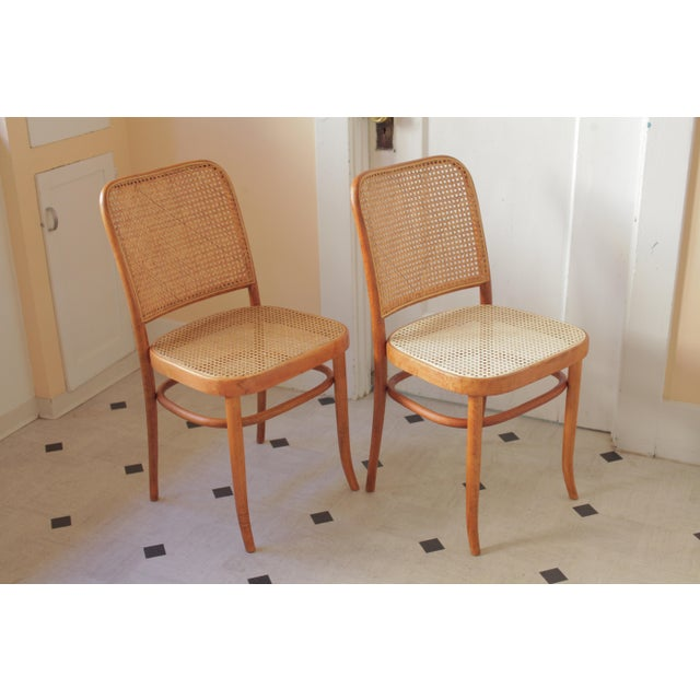 1970s Josef Hoffmann 811 Prague Chairs - A Pair For Sale - Image 5 of 8