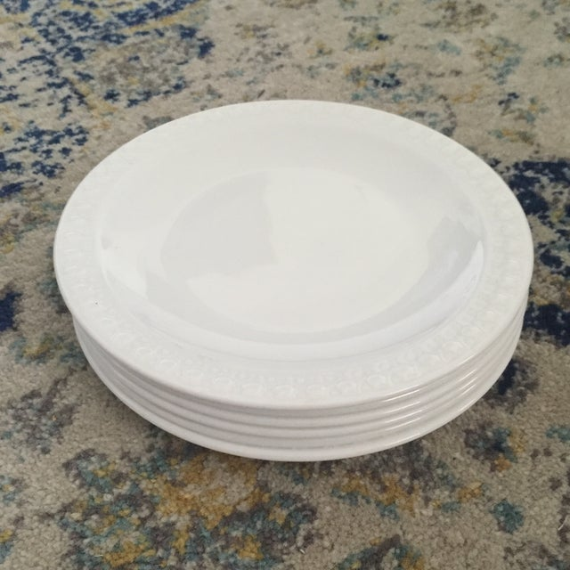 Vintage Corning Pyroceram Tableware White Dessert Plates - Set of 6 - Image 6 of 11