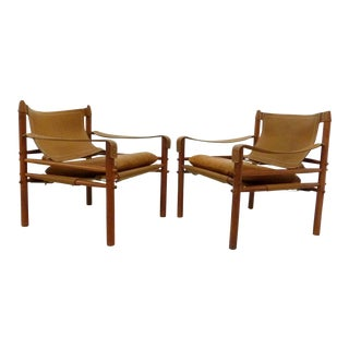 "Arne Norell ""Sirocco"" Safari Chairs for Scanform - A Pair"