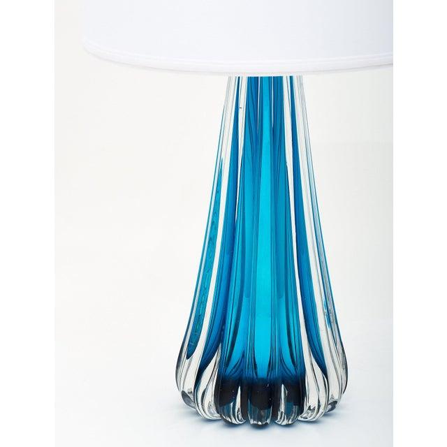 Murano Glass Mirrored Aqua Lamps For Sale - Image 10 of 11