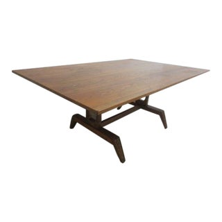 Vintage Mid Century Jamestown Lounge Co. Oak Dining Table For Sale