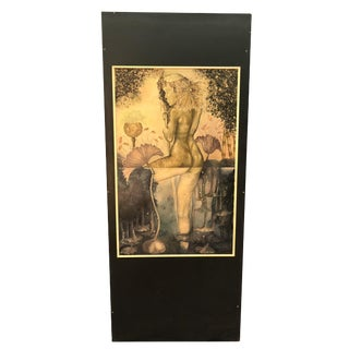 1970s Painted Female Wall Plaque
