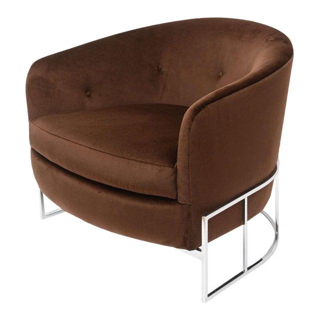 Milo Baughman Barrel Back Chair For Sale