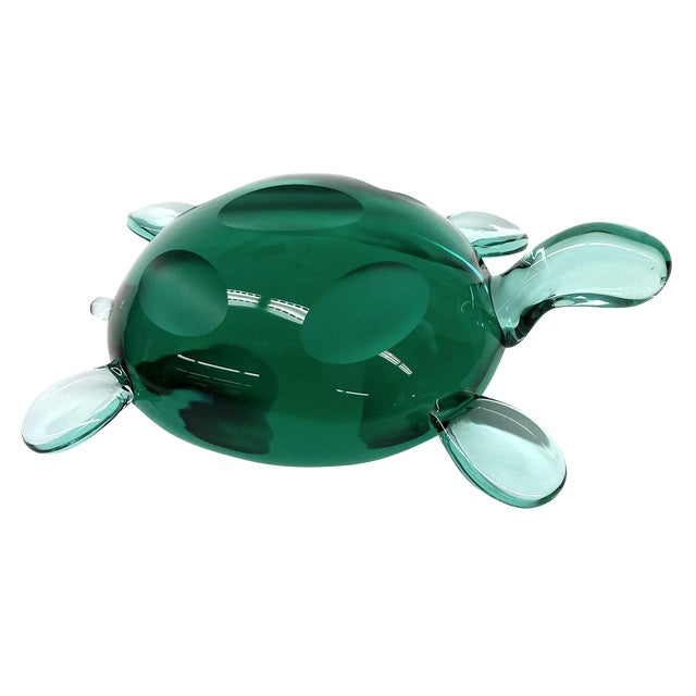 Modern Jade Green Crystal Turtle - Image 1 of 8