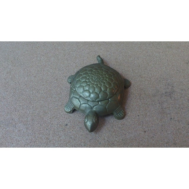 Vintage Brass Turtle Lidded Trinket Box - Image 5 of 7