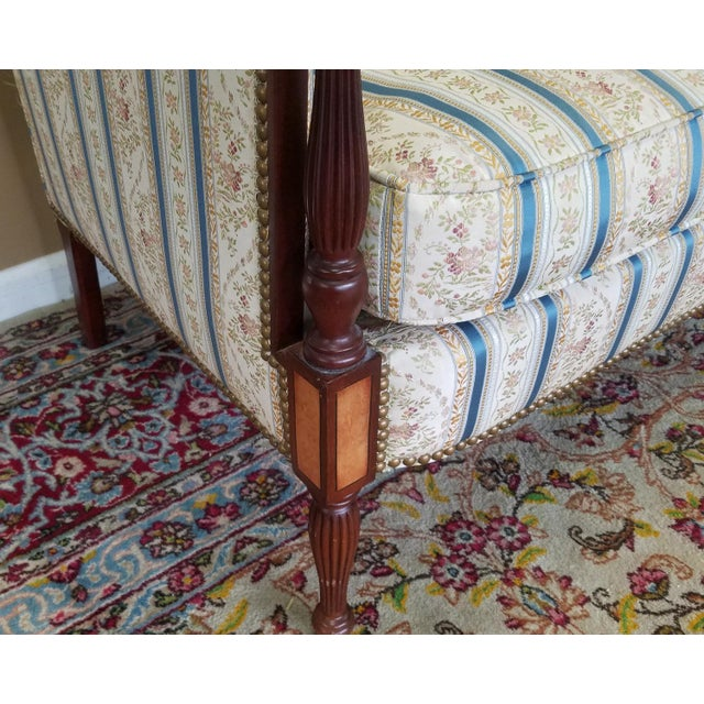 Fantastic Hickory Chair Company James River Collection Sheraton Mahogany Loveseat For Sale In New York - Image 6 of 9