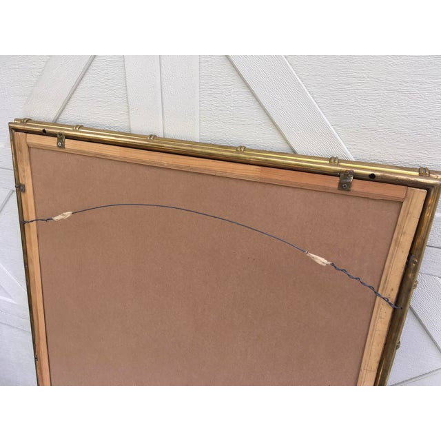 Mastercraft Brass Faux Bamboo Mirror W/Greek Key For Sale - Image 9 of 10