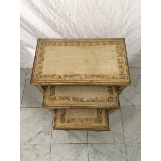Hollywood Regency Hollywood Regency Gold Gilt Florentine Tables - Set of 3 For Sale - Image 3 of 6