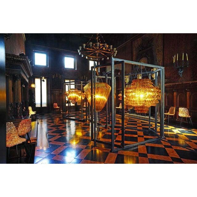 Brilli D Chandelier in Gold Resin by Jacopo Foggini For Sale In New York - Image 6 of 7