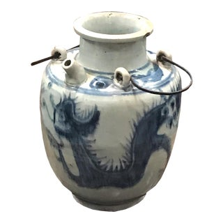 16th/17th Century Large Vietnamese Blue and White 'Dragon' Teapot For Sale