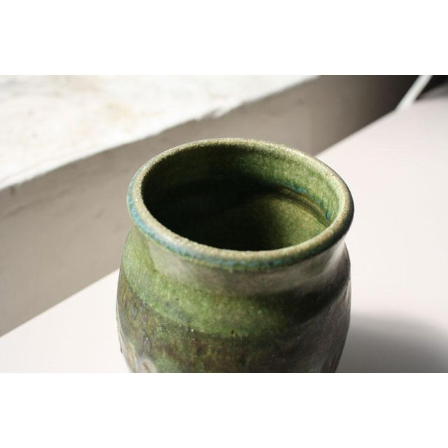 Small Green Ceramic Pot - Image 3 of 6