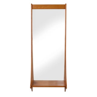Danish Teak Entry Mirror by Pedersen and Hansen For Sale